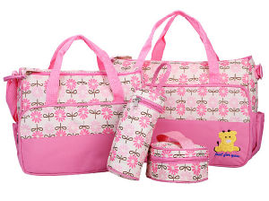5 in 1 Mommy Multifunction Baby Diaper Nappy Bag Mommy Tote Bag 2024c pictures & photos
