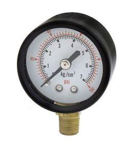 0-7bar 0-100psi 1/8PT Black Round Dial Air Compressor Pressure Gauge pictures & photos