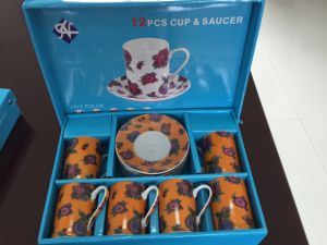 Japaness Style 12 PCS Fine Porcelain Cup and Saucer pictures & photos