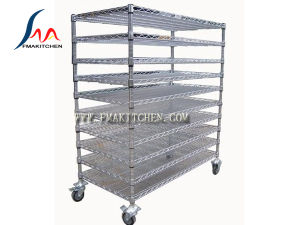 Wire Shelf/Wire Shelves, Metal Shelving Combination, Many Size, Chrome-Plated or Stainless Steel, 10 Tier Vented Shelf pictures & photos