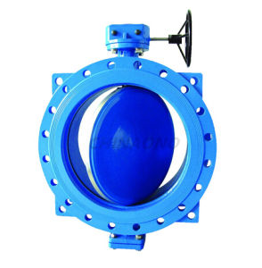 Double Eccentric Soft Sealing Ductile Iron Gear Butterfly Valve pictures & photos