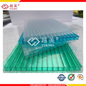 Yuemei Good Quality Precios Policarbonato Transparente Polycarbonate Alveolar Hollow Sheet pictures & photos