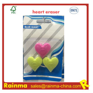 Heart Shape Eraser with Embossed Logo pictures & photos
