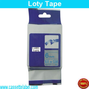 Hot Sale Blue on Clear Compatible Label Tze-113 for Brother Printer