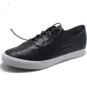 2017 Men Leather PU Lace Fashion Canvas Casual Sport Shoes pictures & photos