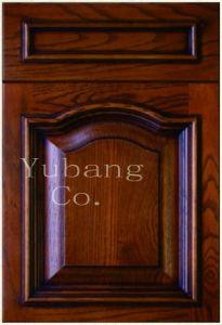 Solid Oak Wood Kitchen Cabinet Door (YJ-002) pictures & photos