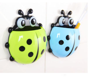 Lovely Ladybug Wall Suction Toothbrush Holder pictures & photos