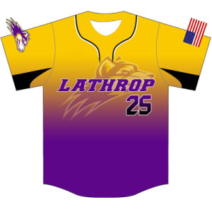 Personalized Team Sublimated Baseball T Shirt with Low MOQ pictures & photos