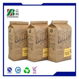 Customized Brown Kraft Paper Bags for Coffee (ZB74) pictures & photos