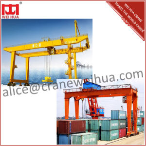Weihua Crane Port Lifting Container Gantry Crane for Sale pictures & photos