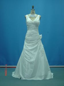 Real Sample Beaded off Shoulder with Flower Wedding Dresses (WD0161) pictures & photos