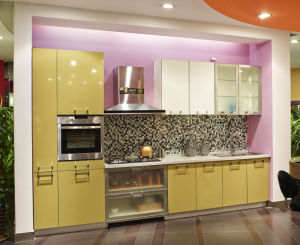 New Popular Acrylic Faced Kitchen Furniture (zv-027) pictures & photos