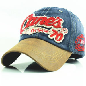 Jeans Patch Embroidery Washed Curved Brim Hat pictures & photos