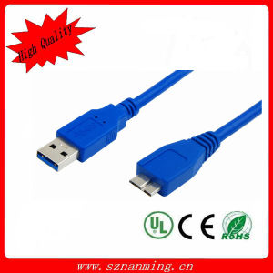 USB 3.0 Am to Micro USB Cable L=1.0m Blue pictures & photos