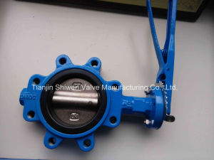 Duplex Stainless Steel 340/316 CF8 Lug Type Butterfly Valve pictures & photos