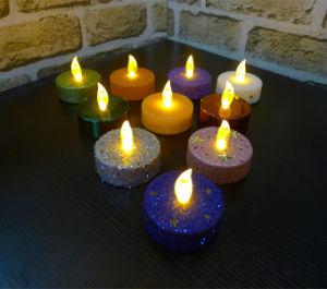 Wide Halloween Glitter LED Tea-Light