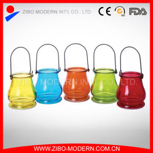 Factory Price Wholesale Color Glass Cup for Candle pictures & photos