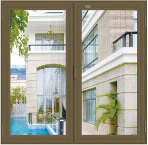 Aluminium Powder Coating Casement Window with Burglar Mesh pictures & photos