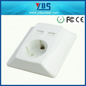 Wall Outlet Socket with Dual USB Germany USB Wall Socket pictures & photos