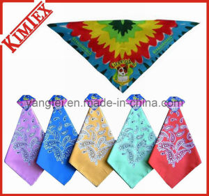 Customized Fashion Printing Dog Triangle Bandana pictures & photos