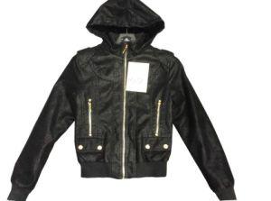 Stylish Women PU Wool Jacket with High Quality