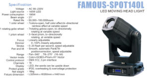 200W Disco Light Movable Spot Light pictures & photos