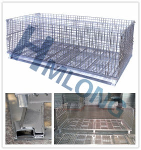Welded Wire Foldable Stackable Mesh Storage Cage pictures & photos