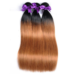 Factory Wholesale Brazilian Hair 1b 30 100% Human Hair Extension 14inch pictures & photos