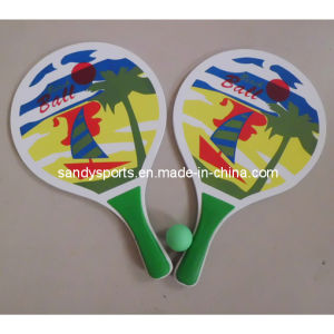 Colorful Summer Sunny Wooden Beach Racket Set pictures & photos
