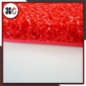Foam Backing Red Color PVC Cushion Mat pictures & photos