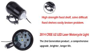 12V 30W CREE U2 Motorcycle LED Headlight pictures & photos