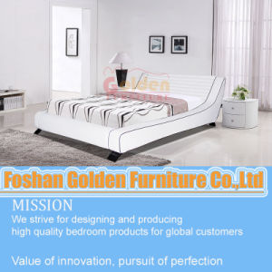 White PU Bed Designed for Bedroom pictures & photos