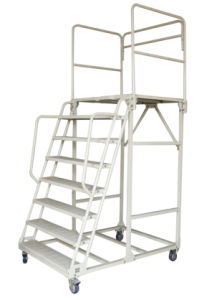 Steel Warehouse Rolling Step Ladder Form Sale Manufacture pictures & photos