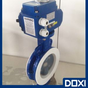 Electric Actuator PFA Butterfly Valve pictures & photos