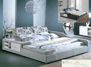 Fabric Bed, Modern Bed with Bed Side Shelf, King Size Bed (L3018C) pictures & photos