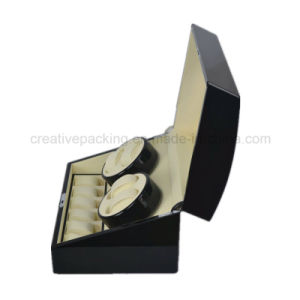 4+6 Top Quality Black Piano Automatic Wood Watch Winder pictures & photos