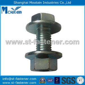 Carbon Steel Zinc Plated Hex Flange Bolt with Flange Nut