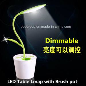 LED Reading Light with Brush Pot, Desk Table Light Lamp pictures & photos