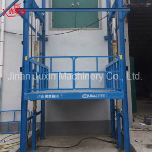 1ton Guard Rail Lift Table Hydraulic Goods Lift pictures & photos