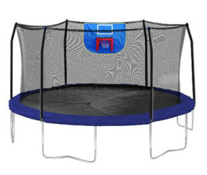 15FT Trampoline with 6 Legs and Safety Enclosure Net and Basketball Hoop pictures & photos