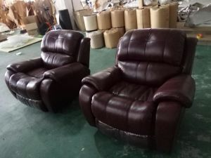 Red Wine Color Recliner Sofa, Living Room Genuine Leather Sofa (Y995) pictures & photos