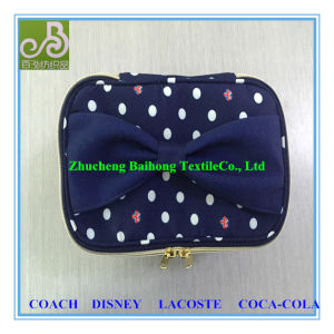 100% Polyester Print Peach Skin Cosmetic Bag pictures & photos