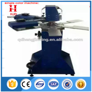 1color 6station Label Rotary T Shirt Screen Printing Machine pictures & photos