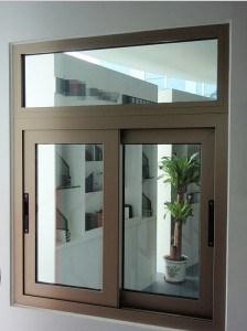 Champagne Color Aluminium Sliding Window Aluminium Profile Window Frame pictures & photos