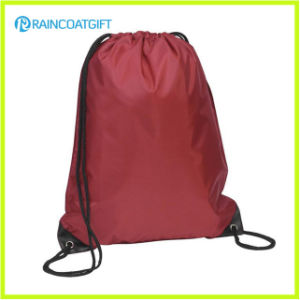 Promotional Custom Logo Printed Nylon Drawstring Backpack pictures & photos
