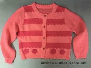 Girls 3D Crochet Flower - Ture Knitted Cardigan pictures & photos