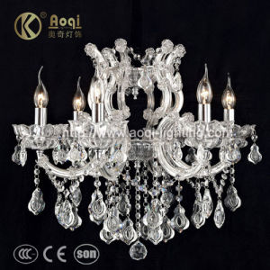 Hot Sale Chrome Clip Iron Crystal Chandelier Lamp (AQ50038-6) pictures & photos