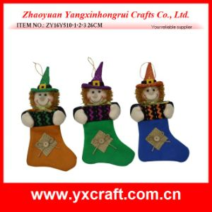 Halloween Decoration (ZY11S345-1-2-3) Halloween Witch Pumpkin Ghost Black Cat Decoration pictures & photos