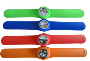 Fashion Waterproof Silicone Slap Bracelet Watch pictures & photos