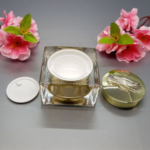 Square Lotion Bottles and Acrylic Cosmetic Jars (NST48) pictures & photos